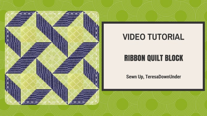 2-minute video tutorial: Ribbon quilt – quick and easy block