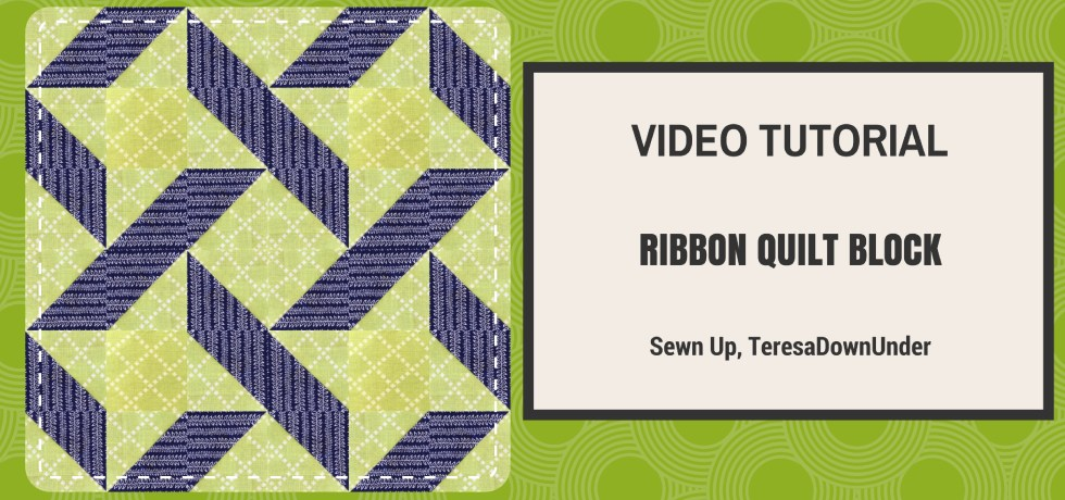 2 minute video tutorial: Ribbon quilt block - quick and easy quilting tutorial