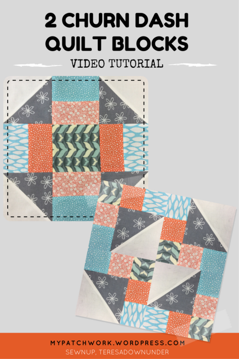Video tutorial: 2 churn dash quilt blocks