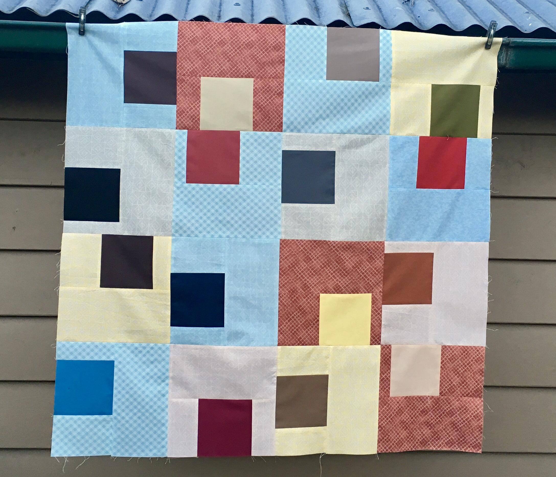 Gridwork quilt by Christa Watson