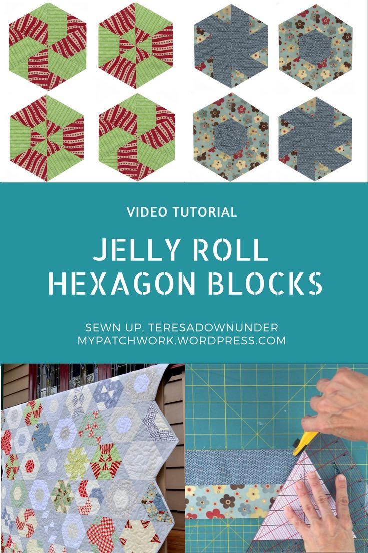 Video tutorial: Jelly roll hexagon blocks