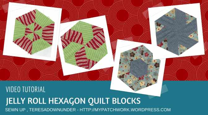 Video tutorial: Jelly roll hexagon blocks