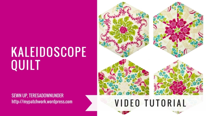 Video tutorial: Kaleidoscope floral quilt