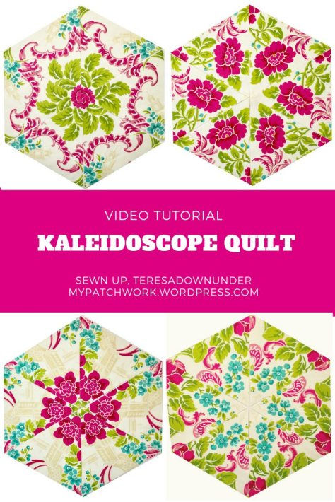 Video tutorial: Kaleidoscope quilt - Also called one block wonder or whack and stack