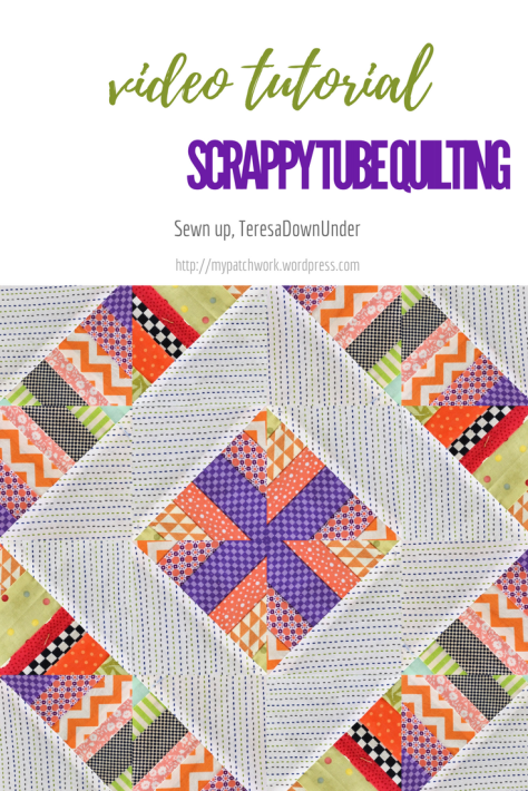 2 minute video tutorial: scrap tube quilting