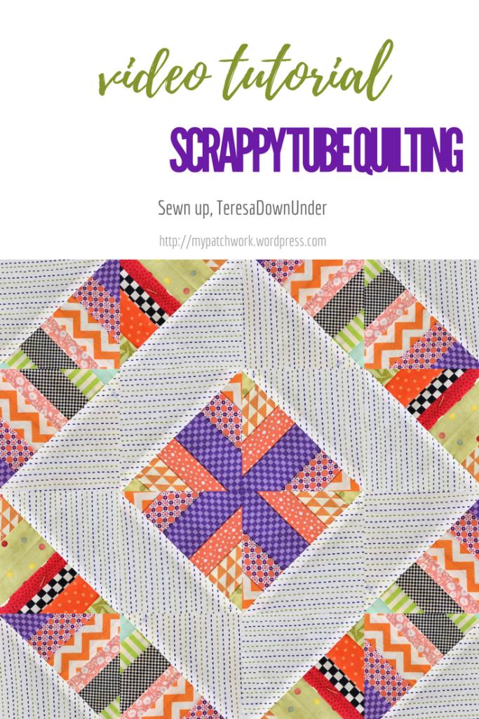 2 minute video tutorial: scrap tube quilting