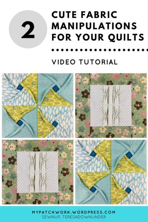Video tutorial: 2 cute fabric manipulations for your quilts