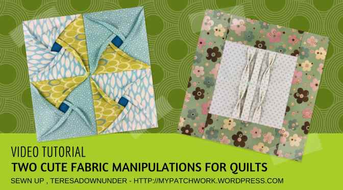 Video tutorial: Windmill cathedral window and tucks with bow ties – quilt block