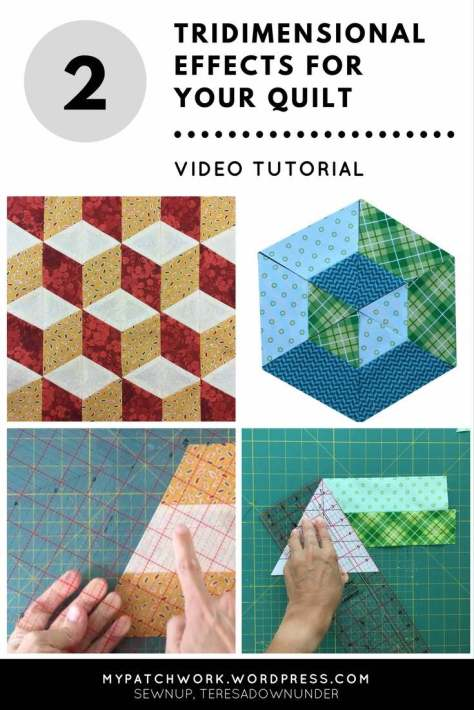 2 Tridimensional effects for your quilt