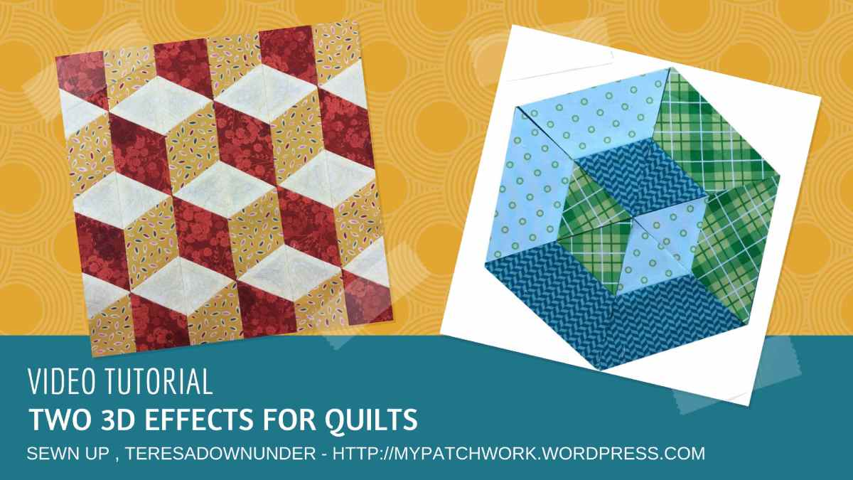 Video Tutorial Tridimensional Effects For Your Quilt