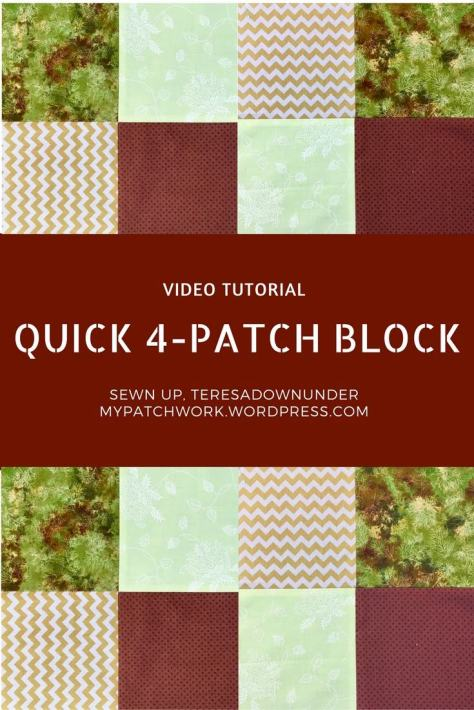Video tutorial: Quick 4-patch quilt block