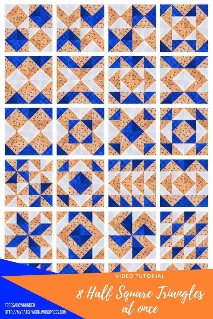 Video tutorial: Make 8 half square triangles at once