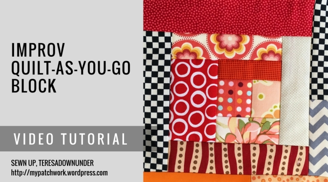 Video Tutorial Improv Log Cabin Quilt As You Go Qayg Quilt Block
