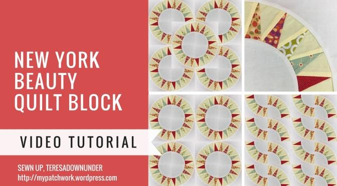 Video tutorial: New York Beauty quilt block - foundation piecing