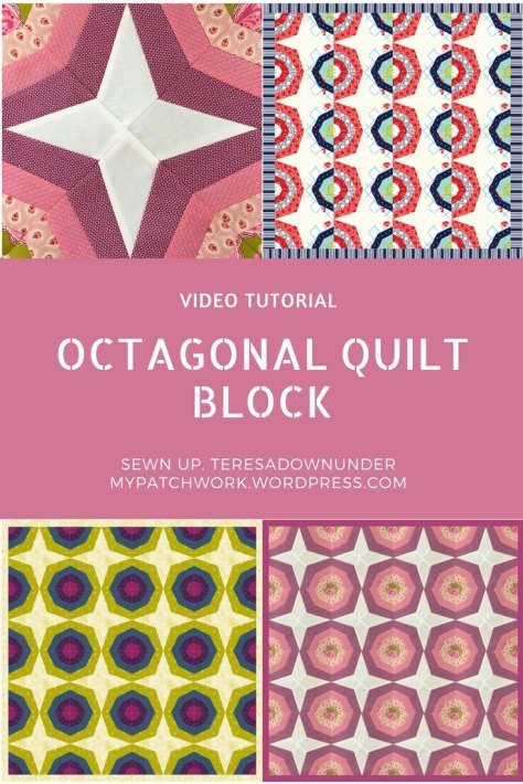 Video tutorial: Octagonal quilt block - easy foundation piecing