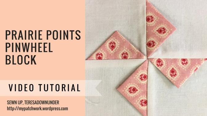 Video tutorial: Prairie points pinwheel – quick and easy quilt block
