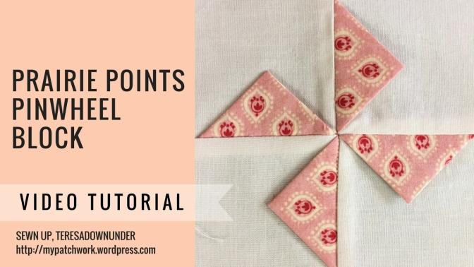 Video tutorial: Prairie points pinwheel block