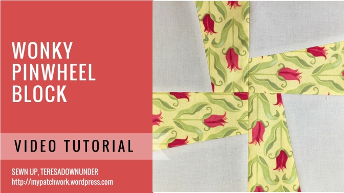 Video tutorial: Wonky pinwheel beginner block