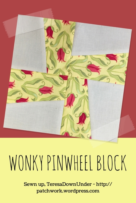 Video tutorial: Wonky pinwheel block