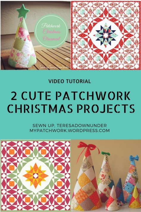 Video tutorial: 2 cute patchwork Christmas projects