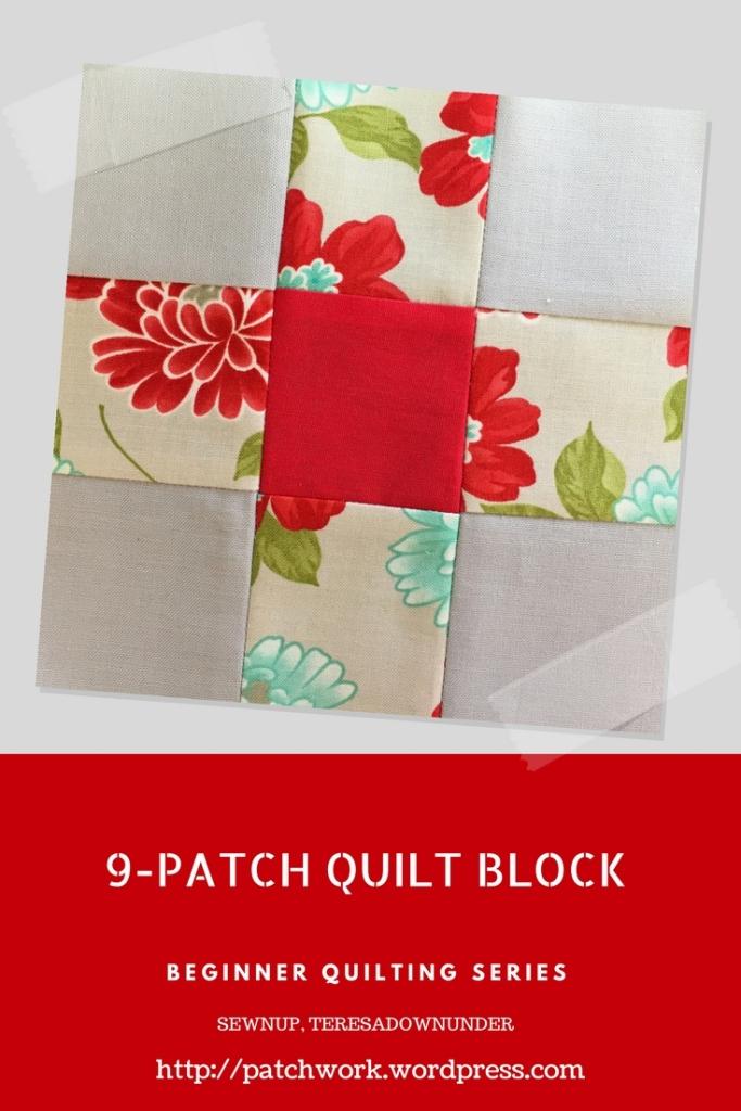 Video tutorial: 9-patch quilt block - beginner's series
