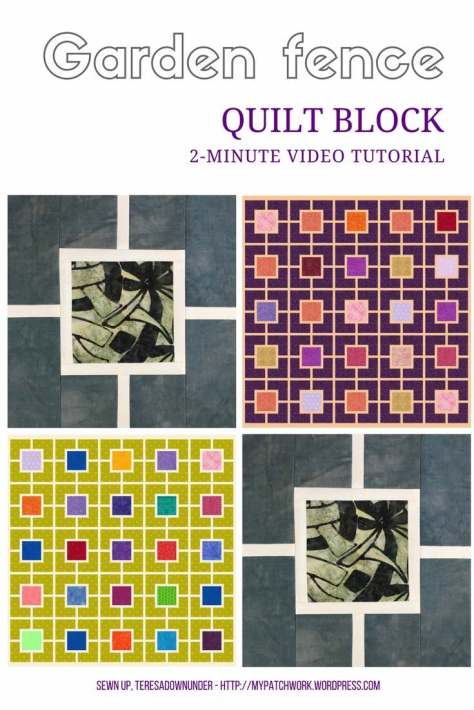 Video tutorial: Garden fence quilt block