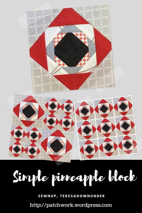 Video tutorial: Simple pineapple quilt block