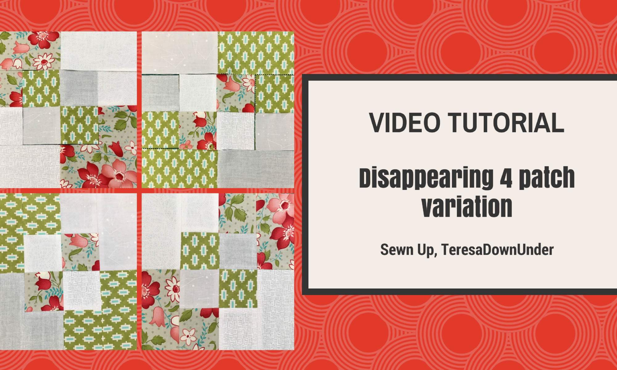 2-minute disappearing 4 patch variation quilt block - quick and easy quilting
