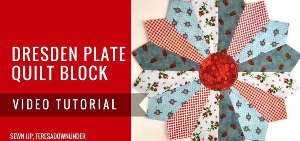 Video tutorial: Dresden plate quilt block