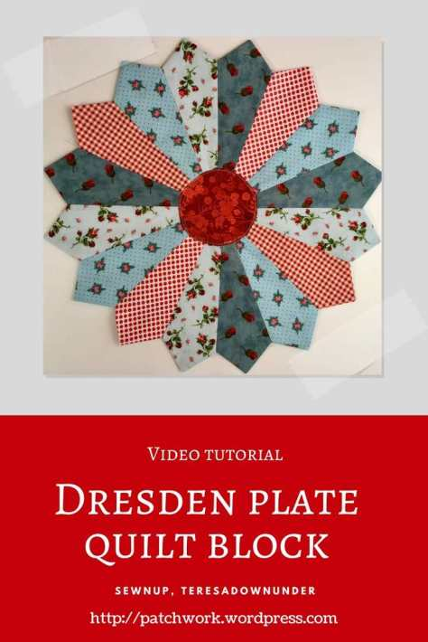 Video tutorial: Dresden plate quilt block