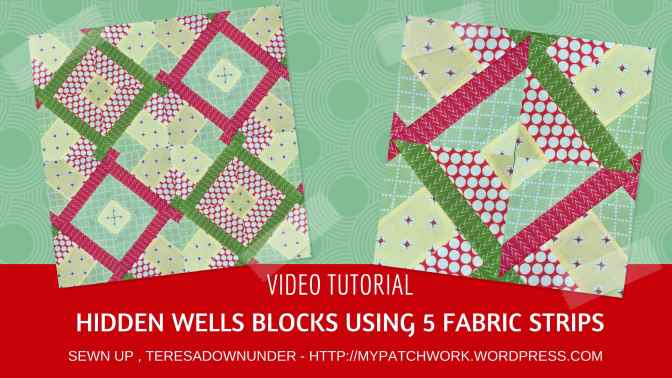 Video tutorial: Hidden wells technique using 5 fabric strips