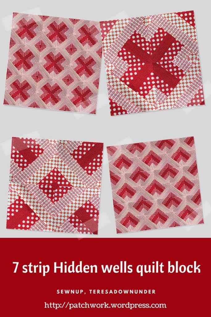 Video tutorial: 7 strip Hidden wells quilt blocks