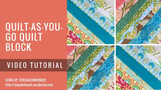 Video tutorial: Strip quilt-as-you-go (QAYG) quilt block