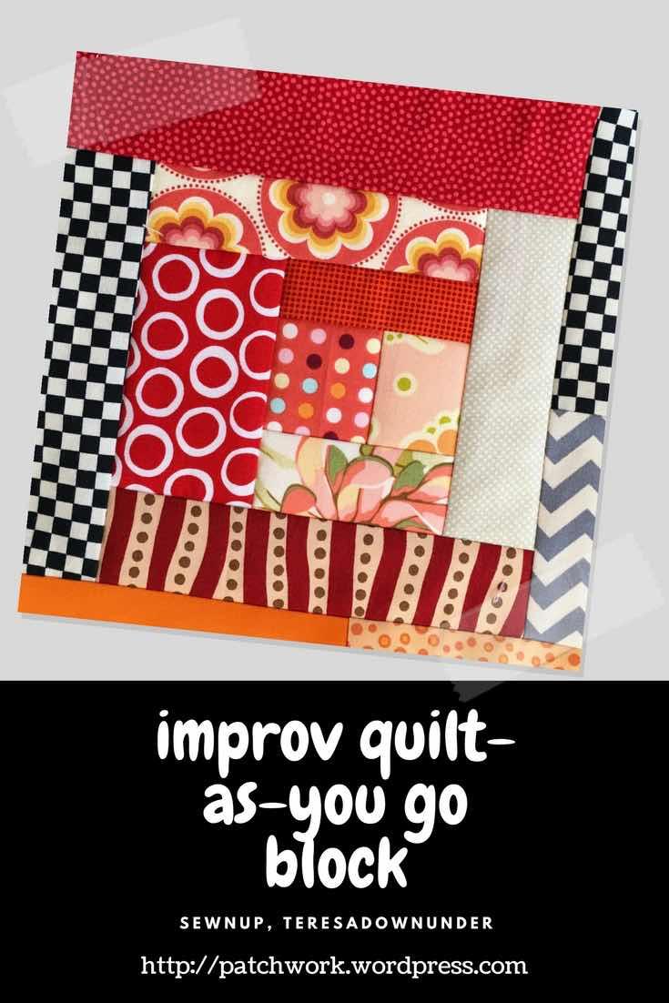 Video tutorial: improv log cabin quilt as you go block