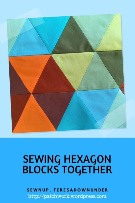 SEWING HEXAGON BLOCKS