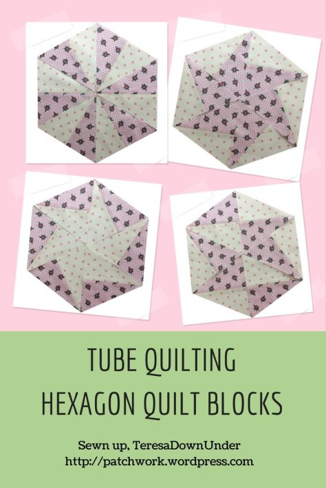 TUBE QUILTING HEXAGON QUILT BLOCKS