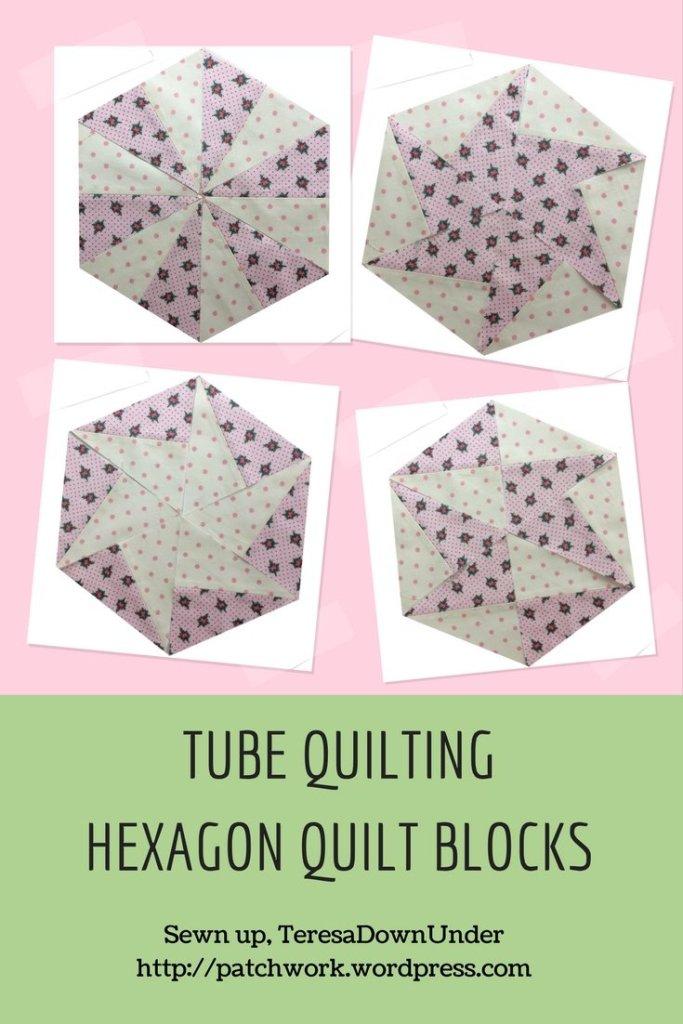 TUBE QUILTING HEXAGON QUILT BLOCKS