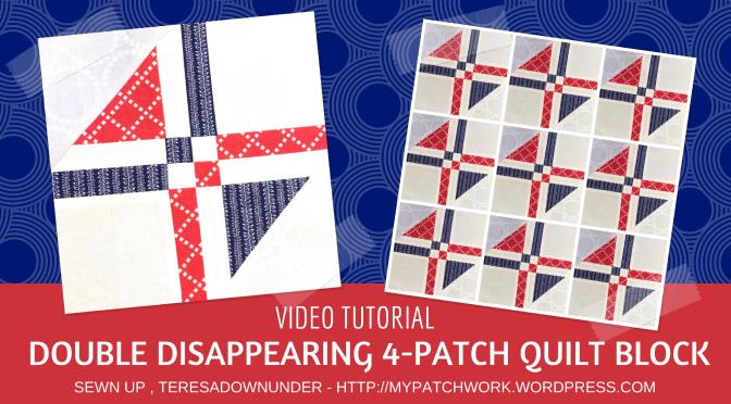 Video Tutorial Double Disappearing 4 Patch Block Quick And Easy