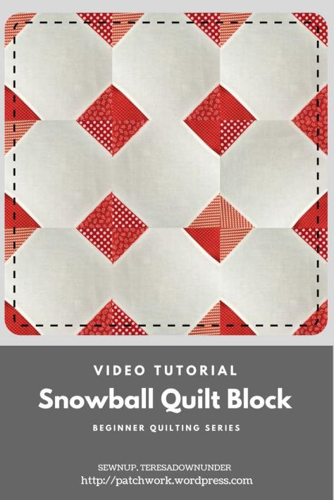 Video tutorial: snowball quilt bock - beginner's series