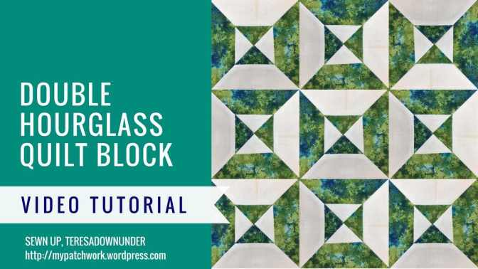 Video tutorial: double hourglass quilt block