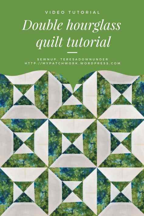 Video tutorial: Double hourglass quilt tutorial