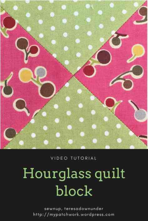 Video tutorial: Hourglass quilt block - quilting beginner series