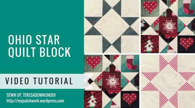 Video tutorial: 2-minute Ohio star quilt block - quick and easy quilting