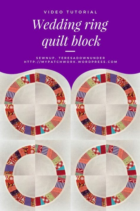 Video tutorial: Wedding ring quilt block