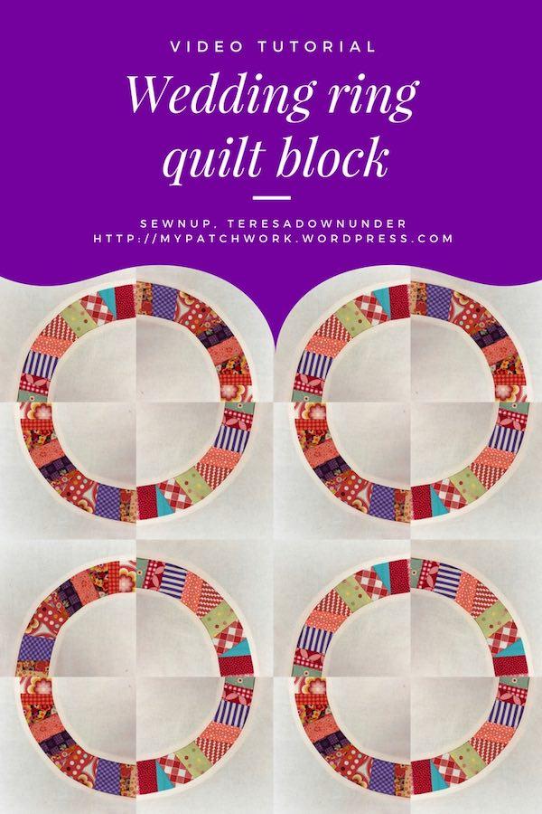 Video tutorial: Wedding ring quilt block