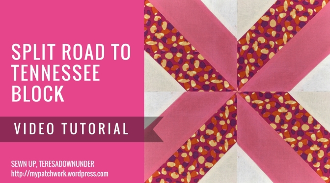 Video tutorial: Split Road to Tennessee quilt block – quick and easy quilting