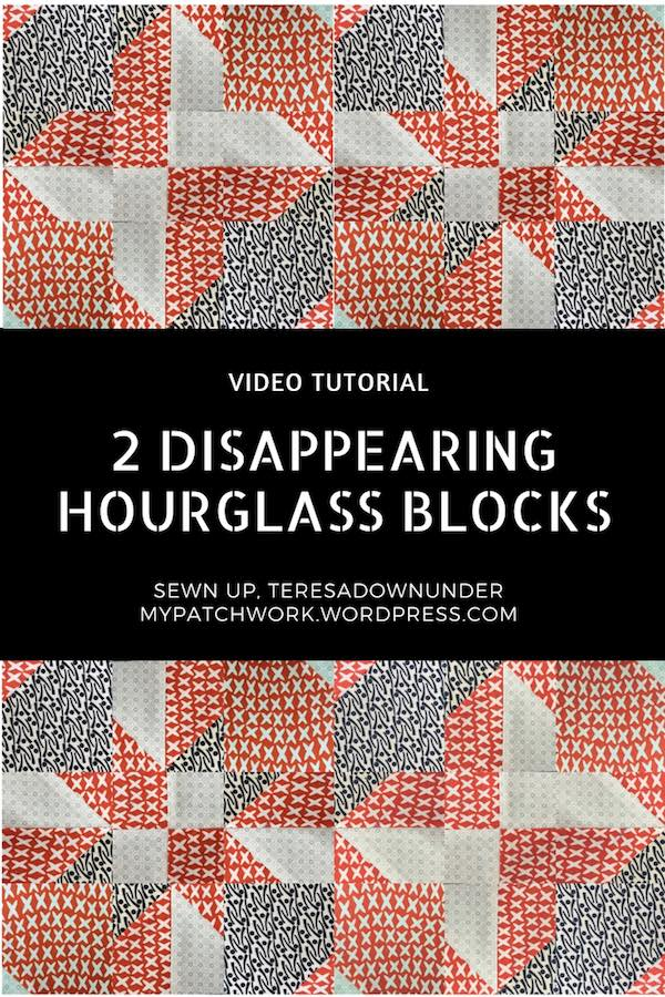 Vídeo tutorials. 2 disappearing hourglass quilt blocks