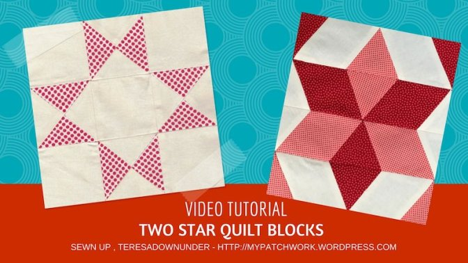 2 star quilt blocks - video tutorial - easy quilting