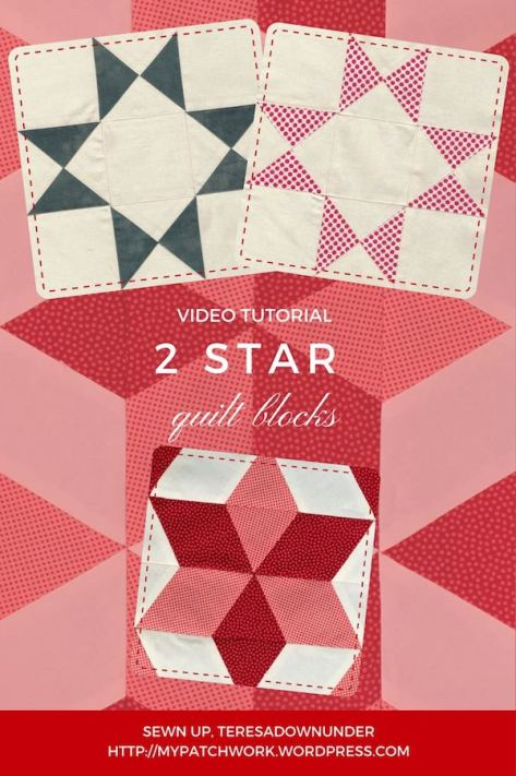 2 star quilt blocks - easy video tutorials