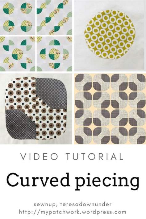 Curved piecing - video tutorial - sewing circles and curves